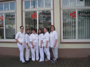 Teilnehmer von Pflege mit Herz Constanze Hans, Selvja Betja, Nora Hoppert, Carina Brandl, Heike Jacubaschke, Ilona Schädiger
