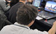 Fotos während der ersten Eltern-LAN im Rahmen der Intel Friday Night Games / Finals der Season 13, Köln, Expo XXI, 06.12.2008 Organisation: esl, Turtle Entertainment, bpb, spielbar, Spielraum, Spieleratgeber-NRW