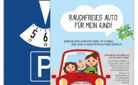 """Parkscheibenaktion """"Rauchfreies Auto für mein Kind"""""""