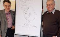 Sucht im Alltag - Karikaturen-Ausstellung